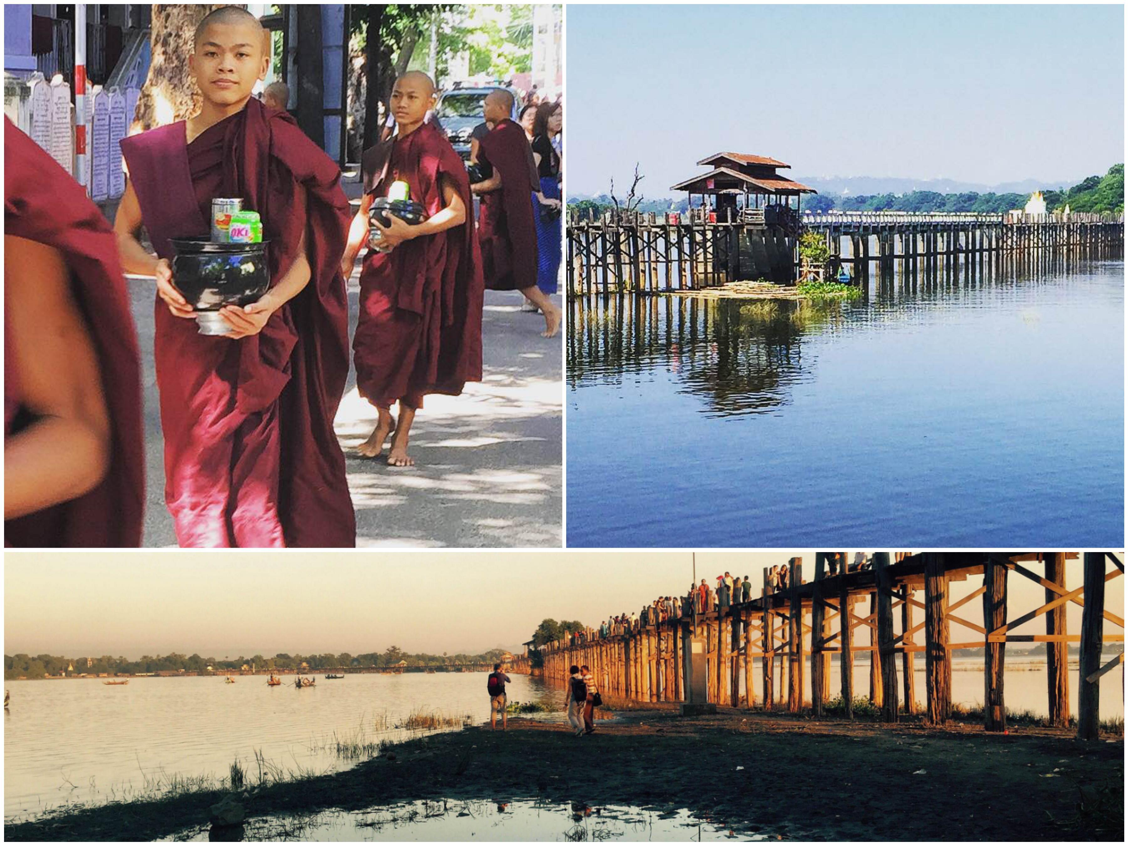Dopo l attraversamento del ponte visitiamo il Monastero Mahagandayon e  scopriamo con un sorriso che… anche i monaci birmani fanno cose molto molto  terrene b0a12d17ff2